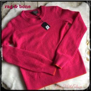 rag & bone Fushia Orange Cashmere Sweater